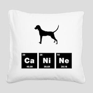 Redbone Coonhound Square Canvas Pillow