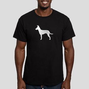 Manchester Terrier Men's Fitted T-Shirt (dark)