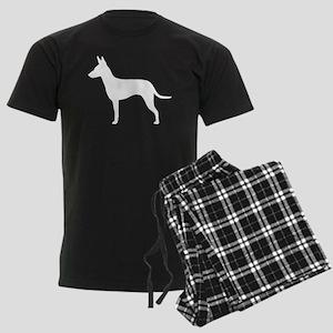 Manchester Terrier Men's Dark Pajamas