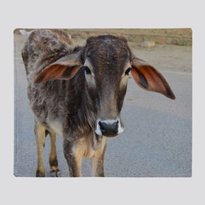 Cow from Holy Place of Bhakti Yoga Throw Blanket