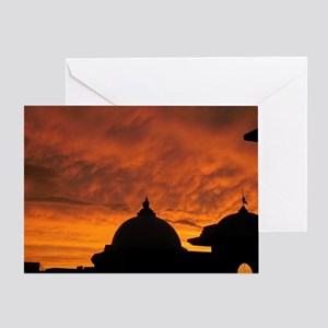 Spirit souls from India land of god  Greeting Card
