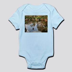 Himeji Japanese garden pond with duck Body Suit