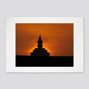Holy Place s of bhakti yoga-india 5'x7'Area Rug