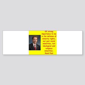 rand paul quotes Bumper Sticker
