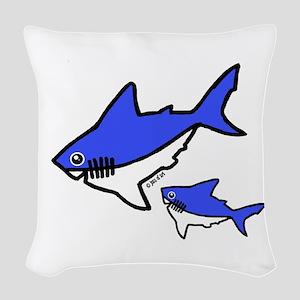 Sharks Woven Throw Pillow