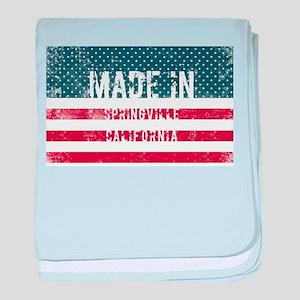 Made in Springville, California baby blanket