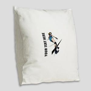 Roller Derby Burlap Throw Pillow