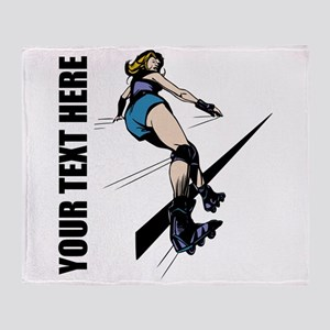 Roller Derby Throw Blanket