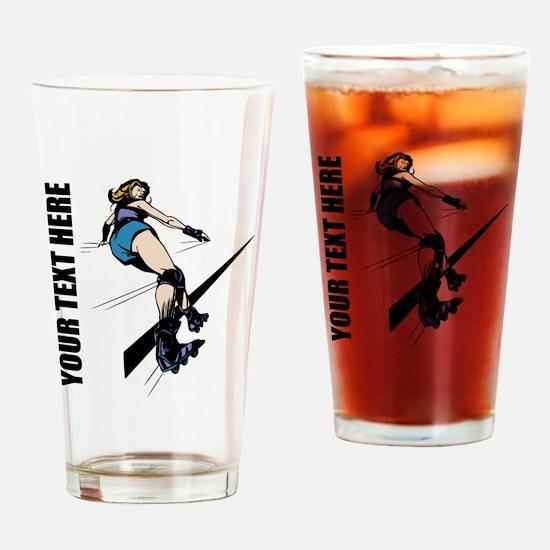 Roller Derby Drinking Glass