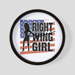 Right Wing Girl Wall Clock