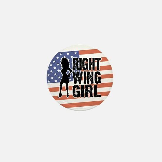 Right Wing Girl Mini Button