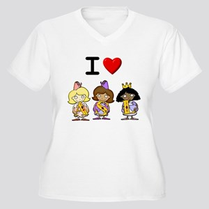 I Love ASL and am a Princess! Women's Plus Size V-
