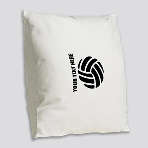 Volleyball Burlap Throw Pillow