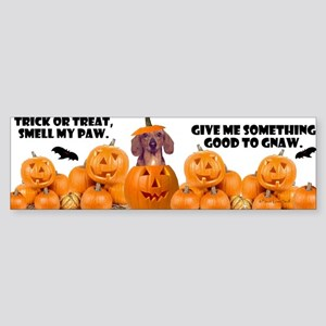 Trick Or Treat (Dachshund) Bumper Sticker