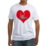 Mom and Baby ILY in Heart Fitted T-Shirt