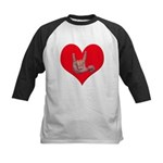 Mom and Baby ILY in Heart Kids Baseball Jersey