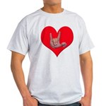 Mom and Baby ILY in Heart Light T-Shirt