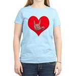 Mom and Baby ILY in Heart Women's Light T-Shirt