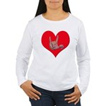 Mom and Baby ILY in Heart Women's Long Sleeve T-Sh
