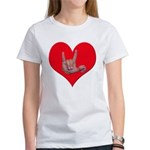 Mom and Baby ILY in Heart Women's T-Shirt