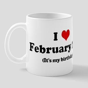 I Love February 2nd (my birth Mug