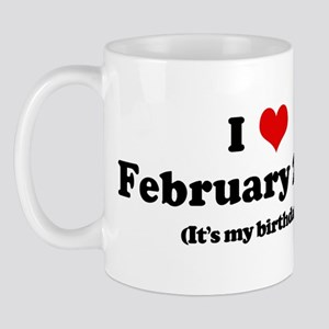I Love February 27th (my birt Mug