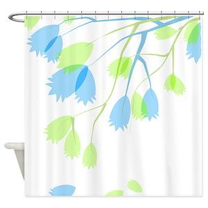 Green Vine Pattern Shower Curtains