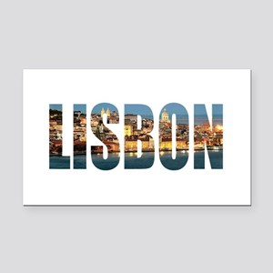 Lisbon Rectangle Car Magnet