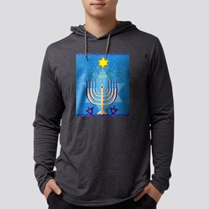 hanukkah menorah Long Sleeve T-Shirt