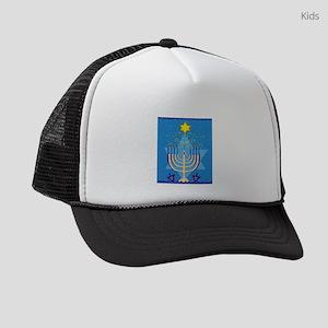 hanukkah menorah Kids Trucker hat