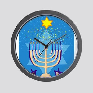 hanukkah menorah Wall Clock