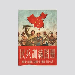 Red China Rectangle Magnet