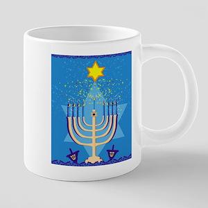 hanukkah menorah Mugs