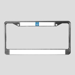 hanukkah menorah License Plate Frame