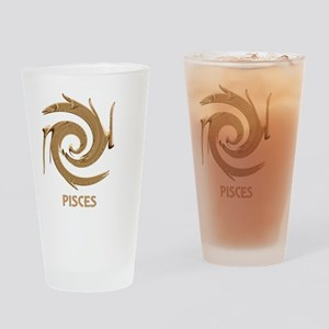 Abstract Zodiac Design Pisces Drinking Glass