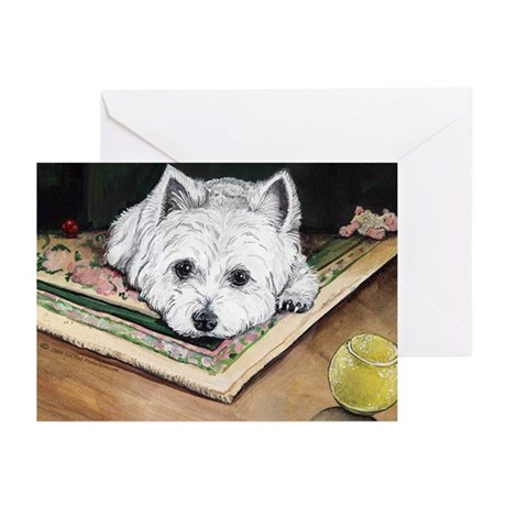 Please Play Westie Greeting Cards (Pk of 10)