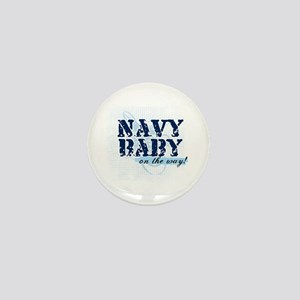 Navy Baby On The Way (v2) Mini Button