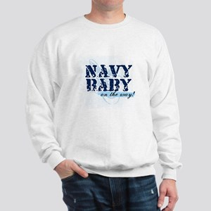 Navy Baby On The Way (v2) Sweatshirt