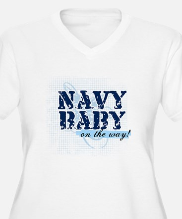 Navy Baby On The Way (v2) T-Shirt