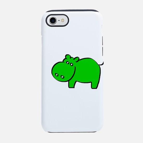 Green Hippo iPhone 7 Tough Case