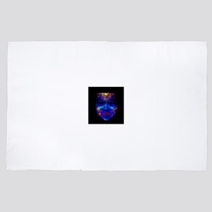 Neon Black-Light Drama Mask 4' x 6' Rug