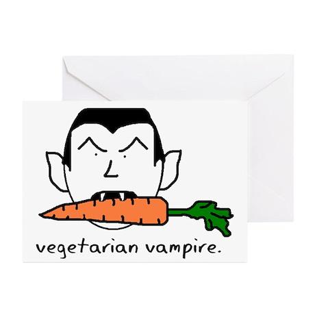 Vegetarian Vampire Greeting Cards (Pk of 10)