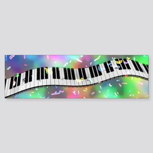 Rainbow Keyboard Bumper Sticker