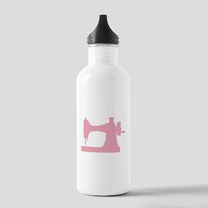 Polka Dot Sewing Machi Stainless Water Bottle 1.0L