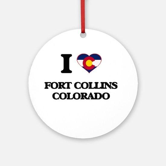 I love Fort Collins Colorado Ornament (Round)
