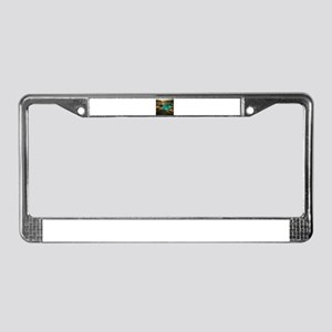 Beach with Drinks License Plate Frame