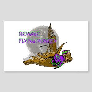Flying Monkey Rectangle Sticker