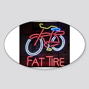 Neon Fat Tire Sign Sticker