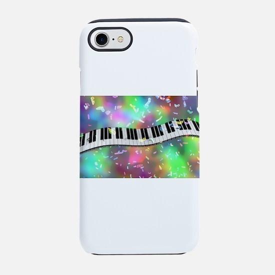 Rainbow Keyboard iPhone 7 Tough Case