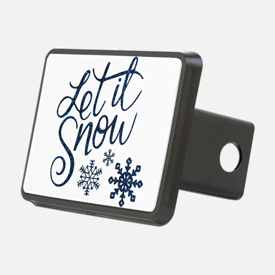 Let it Snow Navy Hitch Cover